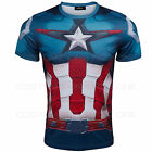 Avengers Age of Ultron Captain Amercia General printing Short Sleeves T-shirt