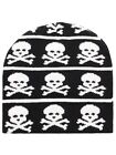 Multi Skull & Crossbones Black Beanie