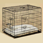 Dog Cage With Sheepkin Bed & Dog Crate Bowls Puppy Small Medium Large XL XXL