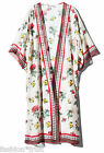 H&M Loves Coachella Floral Patterned Sheer Kimono Cover-Up Cardigan S UK10 12 14