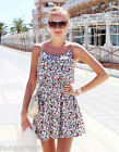 H&M Loves Coachella Short Sleeveless White Floral Summer Dress New UK8 EU34 US4