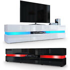 TV Cabinet Stand Board Unit Lowboard Rack Flow in White or Black High Gloss