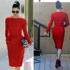 Elegant Women Sexy Formal Wear to Work Party Evening Pencil Wiggle Tunic Dresses