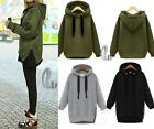 New Plus Size Women's Pullover Hoodie Hooded Sweatshirt Jacket Coat Long sleeve