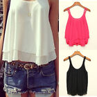 Fashion Summer Women Shirt Sleeveless Chiffon Blouse Loose Casual Tank Tops Vest