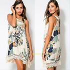 2015 Fashion Lady Lace Floral Sleeveless Party Evening Cocktail Short Mini Dress
