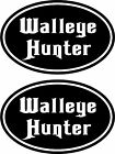 2 BASS HUNTER CARP WALLEYE CATFISH Fishing boat car truck vinyl decals stickers