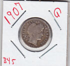1907 BARBER DIME IN GOOD  CONDITION STK B45