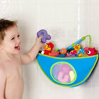 Kids Baby Bath Time Toy Tidy Storage Bag Suction Cup Triangle Organizer Holder