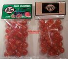 2 BAGS OF ALLIS CHALMERS FARM TRACTORS ADVERTISING PROMO MARBLES
