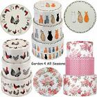 3 to CHOOSE- Set of 3 CAKE BISCUIT TINS Ulster Weavers ROOSTER CATS ROSE FLORAL