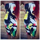 2015 Sexy Womens Bodycon Cocktail Sleeveless Print Evening Clubwear Summer Dress