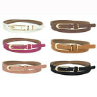 Women Leather Belt Metal Buckl Casual Thin Belts Female Strap Nice Gift for Lady