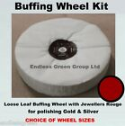 Gold & Silver Polishing Kit - Loose Leaf Buffing Wheel with Jewellers rouge bar