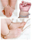 2 x Beautiful Baby Silver Jingly Christening Bangle Bracelete Anklet -Adjustable