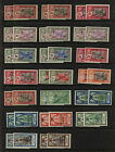French  Inida  20 overprinted stamps  mint  NH ,   nice lot  , 2 of each