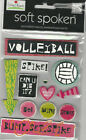 U CHOOSE  Soft Spoken VOLLEYBALL GIRL SHE'S A GYMNAST 3D Stickers sports
