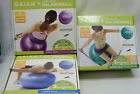 Gaiam Stability Balance Ball Total Body Workout Tone Upper Body Tighten The Abs image
