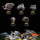 Cichlid Stones Ceramic Aquarium Rock Breeding Cave for Fish Tank +Buckle