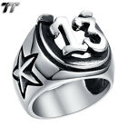 High Quality TT 316L Stainless Steel Star No.13 Ring Size 8-13 (RZ121) NEW