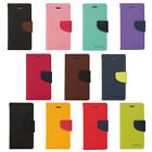11 Colors New high quality Fancy Diary Wallet leather case for Samsung Various