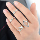 5pcs/set Women Mid Midi Punk Knuckle Ring Tip Finger Stacking Gold Silver Gift