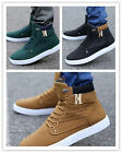 Men Shoes Fashion Leather Shoe Casual High Shoes Canvas Sneakers Newest Style