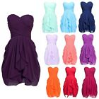 New Women Short Chiffon Party Cocktail Mini Prom Bridesmaid Wedding Dresses Plus