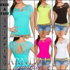 NEW SEXY WOMENS FASHIONS TOP XS S M L XL LADIES LACY SHIRTS shop online CLUBWEAR