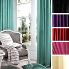 Catherine Lansfield Faux Silk Pencil Pleat Lined Tape Top Curtains With Tiebacks