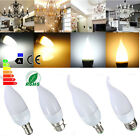 E14 E27 B22 B15 Bougie Ampoule Candle Light Flamme 3W 10 LED 2835 SMD Chandelier