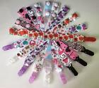Dummy Clips (GIRLS) Ribbon Strap 40 Designs Owl Teddy Floral Roses