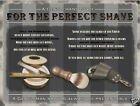 For The Perfect Shave small steel sign 200mm x 150mm   (og)