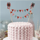 Patchwork Owl Baby Shower Christening First 1st Birthday Party Cake Flag Bunting