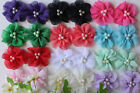 Wholesale 12x Chiffon Mini DIY Flower Embellishment Craft Baby Headband Clothes
