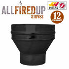 """Convesa 5"""" Or 6"""" Vitreous To Twin Wall Insulated Flue Pipe Adapter Black"""