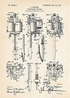 1904 Tattooing Machine - Gifts For Tattoo Artists Patent Art Print Ink Skin