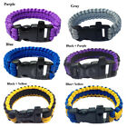 HOT! Survival Bracelet Whistle Shackle Buckle Cord Parachute For Outdoor Camping