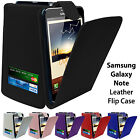 Premium Leather Flip Case with Credit Card Slots for Samsung Galaxy Note N7000