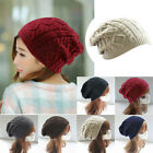 Men Womens Ladies Baggy Chunky Knit Knitted Braided Beanie Slouch Hat Ski Cap