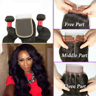 3 Bundles With Closure Human Hair Weave Brazilian Body Wave With Lace Closure