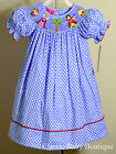 NWT Claire & Charlie Snow White Smocked Bishop Dress 12 18 24 M 2T 3T 4T Girls