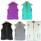 NWT Tangerine Women Front Zip Fleece Vest Black/Purple/White/Jade/Gray S/M/L