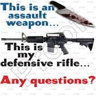 """""""ANY QUESTIONS?"""" T-Shirt - SIZE LARGE 2nd Amendment-PROTEST AR15 AK47 GLOCK 1911"""