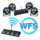 Kam Par Kit WFS 4 x DJ LED Par Cans Uplighters Wash DMX + Wireless Footswitch