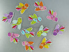 Flying Bird Magnets cute strong neodymium painted wood - 4 gift boxed