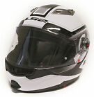 LS2 FF370 Motorcycle Helmet - Armory White Modular Flip Face Commute Tour Street