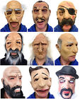 Funny People Masks Old Man Grandad Granny Latex Chinstrap Mask Fancy Dress
