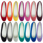 AnnaKastle New Womens Cute Round Toe Faux Suede Ballet Flat Shoes 14 Colors