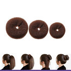 Fashion Brown Bun Ring Shaper Hair Doughnut Updo Styling Tools Korean Hairstyle
